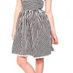 Hell Bunny Black and White Striped Dress