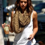 Tolani Infinity Scarf in Leopard as seen on Jessica Alba