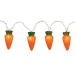 Carrot String Lights - String Of 10