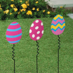 Polka Dot Easter Egg Yard Stake