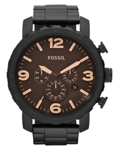 Men's Black Dial Black IP Stainless Steel