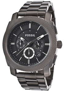 Men's Chronograph Black Dial Gunmetal IP Stainless Steel